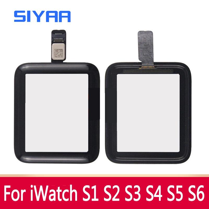 SIYAA сенсорный Экран планшета Стекло для наручных часов Apple Watch серии на возраст 2, 3, 4, 5, 6 стеклянных линз Панель для наручных часов iWatch, S2 38 мм с...