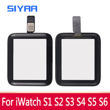 Siyaa tela de toque digitador vidro para apple assistir série 2 3 4 5 6 lente vidro painel para iwatch s2 38mm toque substituição vidro