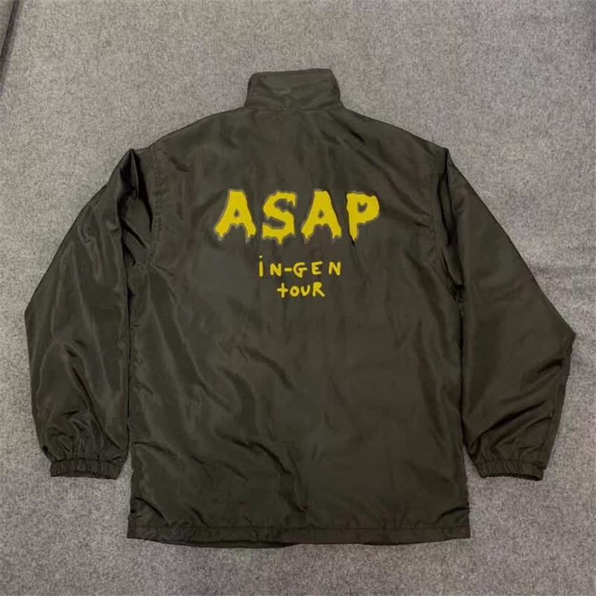 Hommes vestes ASAP Rocky veste 2019 meilleure qualité Asap Rocky blessé génération veste épaissir A $ AP Yams Mob femmes unisexe