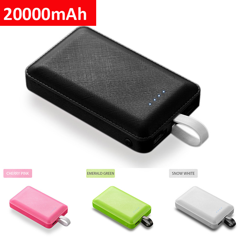 20000mAh <font><b>Power</b></font> <font><b>Bank</b></font> Built in <font><b>3</b></font> in 1 Cable Portable Charger <font><b>20000</b></font> mAh Powerbank For <font><b>Xiaomi</b></font> <font><b>mi</b></font> 9 iPhone Samsung External Battery image