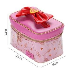 Image 2 - אנימה סיילור מון קוספליי איפור תיק רוכסן אחסון תוספות תיק מתנה לילדה