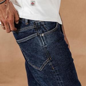 Image 3 - SIMWOOD 2020 春冬の新ジーンズ男性ファッション古典的な高品質ジーンズプラスサイズのデニムパンツ 190408