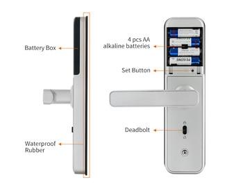 Nieuwe X5 Biometrische Vingerafdruk Waterbestendig Slot 5