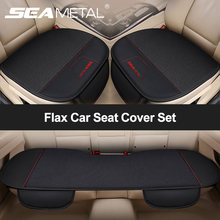 SEAMETAL Flax Car Seat Cover Set Universal Linen Vehicle Seat Cushion Moisture-Proof Auto Seat Protector with Bucket Car Goods