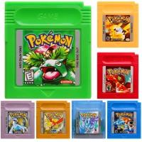 Η κάρτα κονσόλας κασέτας βιντεοπαιχνιδιών Pokeon series 16 bit για το κλασικό παιχνίδι Nintendo GBC συλλέγει πολύχρωμη έκδοση αγγλική γλώσσα
