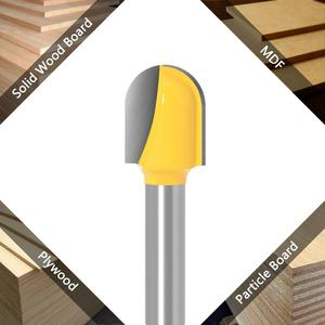 Image 2 - 1PC8mm 샹크 CNC 초경 엔드 밀 도구 긴 블레이드 라운드 코 비트 코어 박스 라우터 비트 긴 도달