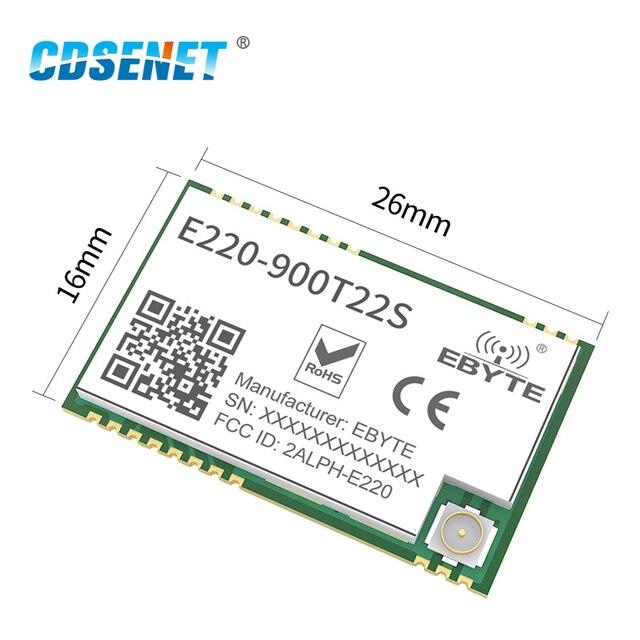 LLCC68 LoRa 868MHz Module 915MHz 22dBm Long Range IPEX/Stamp Hole UART WOR Wireless Transmitter Receiver CDSENET E220-900T22S 2