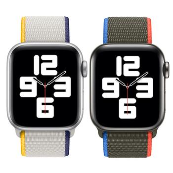 Pasek z nylonu dla pasek do Apple Watch 45mm 41mm 40 44mm Smartwatch pas korea pasek bransoletka iWatch seria 4 5 SE 6 7 pasek do zegarka tanie i dobre opinie CN (pochodzenie) 22cm Paski do zegarków Nowa z metkami for apple watch 6 5 4 3 2 1 se strap band for apple watch 44mm strap