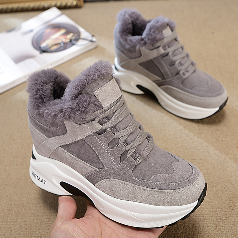 2020 New Women's Winter Sneakers Warm Fur Chunky Sneakers Platform Plush Casual Shoes Woman Comfort Ladies Wedge Sneakers Feamle|Women's Vulcanize Shoes| - AliExpress