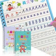 2 livros números de aprendizagem em inglês magia prática copybook bebê copybook para caligrafia escrita crianças inglês lettering brinquedo