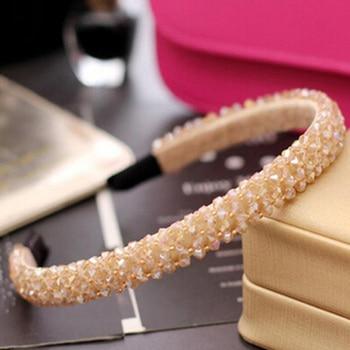 Girls Shiny Luxury Rhinestone Hair Band High Quality Diamond Pearls Hair Hoop Accessories for Women Crystal Headbands Ornaments 5