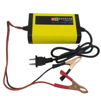 CarS Motorcycle Battery Charger 12V 2A Full Automatic 3Stages Lead Acid Car Charge Accessories image