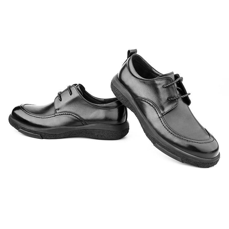 Automne chaussures en cuir décontracté mâle de haute qualité en cuir véritable chaussures hommes, à lacets hommes d'affaires chaussures, hommes chaussures habillées peau de vache - 6