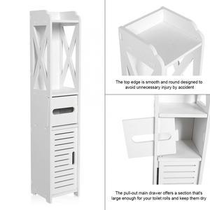 Image 3 - 80*15,5*15 см Ванная комната туалет для корпусной мебели белый деревянный шкаф полки для хранения стирального порошка шампунь ткани стеллаж для хранения