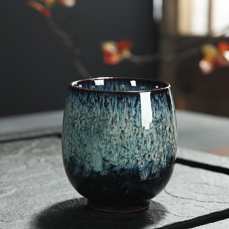Ceramic  150ML China Tea Cup  Kiln Change Ceramic Home Tea Cup  Creative ceramic cup I026 2