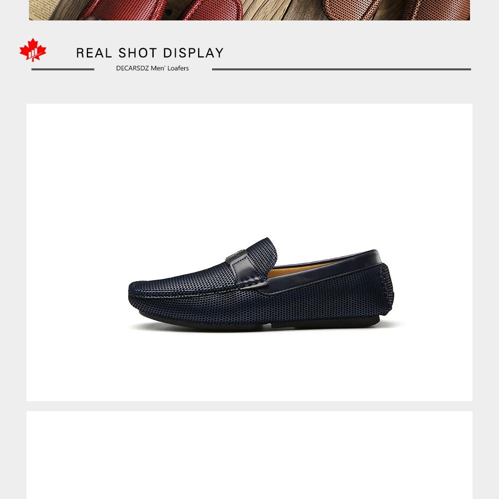 H524264392c4745c68714906e26fb7125P Men Loafers Shoes Autumn Fashion Boat Footwear Man Brand Moccasins Men'S Shoes Men Slip-On Comfy Drive Men's Casual Shoes