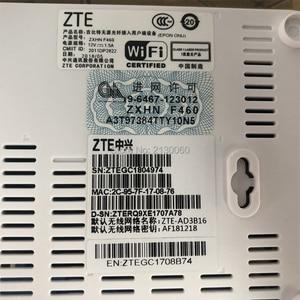 Image 4 - Nowy 5.0 wersja ZTE F460 ONT ZTE EPON ONU angielskie oprogramowanie sprzętowe 4FE + 2Tel + USB + WIFI, ZTE optyczny terminal sieciowy darmowa wysyłka