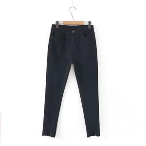 Image 4 - GOPLUS קוריאני סגנון נשים ג ינס גדול גודל גבוהה מותן אפור שחור ג ינס סקיני ג ינס אישה מכנסי עיפרון גרנדה Taille Femme C9561