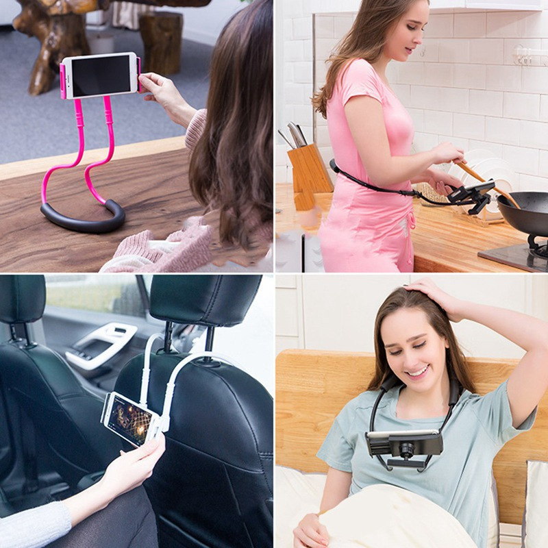 Multi-Function Flexible Mobile Phone Holder Neck Lazy Bracket Bed 360 Degree Phones Holder Stand For IPhone 11 Pro For Xiaomi