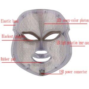 Image 2 - Mascarilla Facial con fotones LED para el cuidado de la piel, rejuvenecimiento, eliminación de arrugas y acné, 7 colores