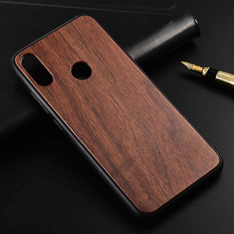 حالة ل Xiaomi Redmi ملاحظة 7 الموالية ضئيلة الخشب الغطاء الخلفي واقي TPU حالة ل Redmi Note7 الهاتف حالات