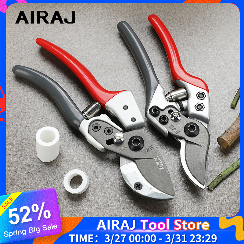 AIRAJ 7/8in New Pruning Shears Bonsai Graft Garden Shears Stainless Steel Pruning Scissors Cut 30mm Thick Branches And PVC Pipes