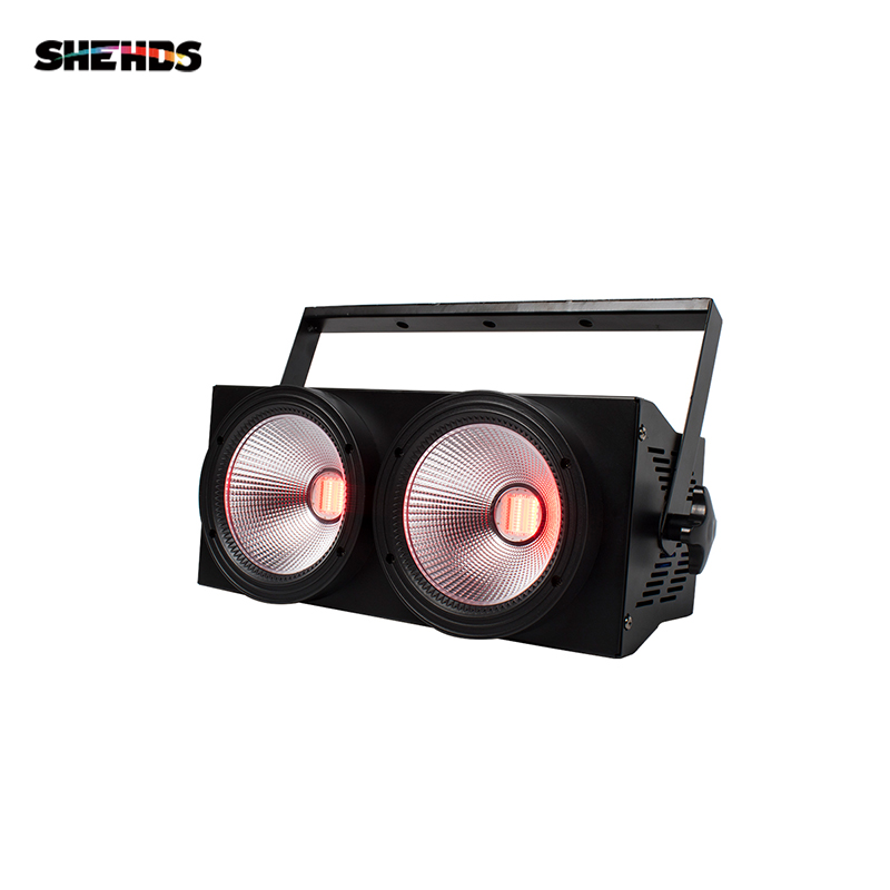 SHEHDS High Power 2eyes 200W RGBWA+UV 6in1 LED COB Blinder Lighting For DJ Disco Stage Theater Uplight Decorative Effect Light