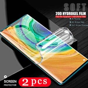 2/1 шт. мягкий полное покрытие экрана телефона из закаленного стекла для huawei mate 40 pro RS плюс 30 lite 30E 20 pro 20X гидрогель пленка не стекло пленка