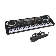 61 keys digital electronic keyboard and electric microphone music P0W7 led A4D7