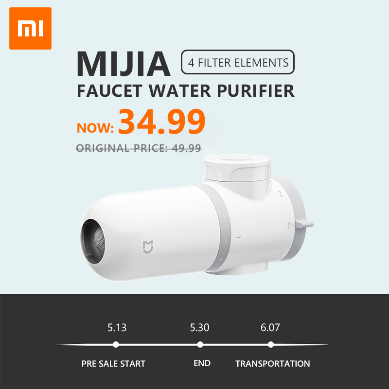 NEW Presale Xiaomi Mijia Faucet Water Purifier Kitchen Tap Water Filter Gourmet Kitchen Filtration System Washroom Tap Purifier