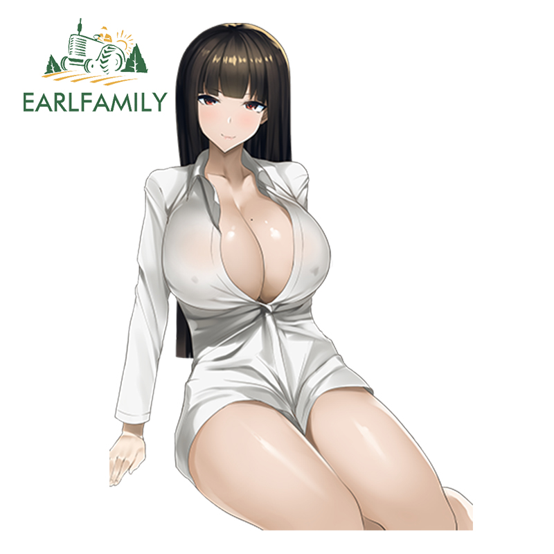 EARLFAMILY Car Styling Super Sexy Girl Gundam Build Fighters Try Hoshino Fumina Decals 3D Car Sticker Accessories