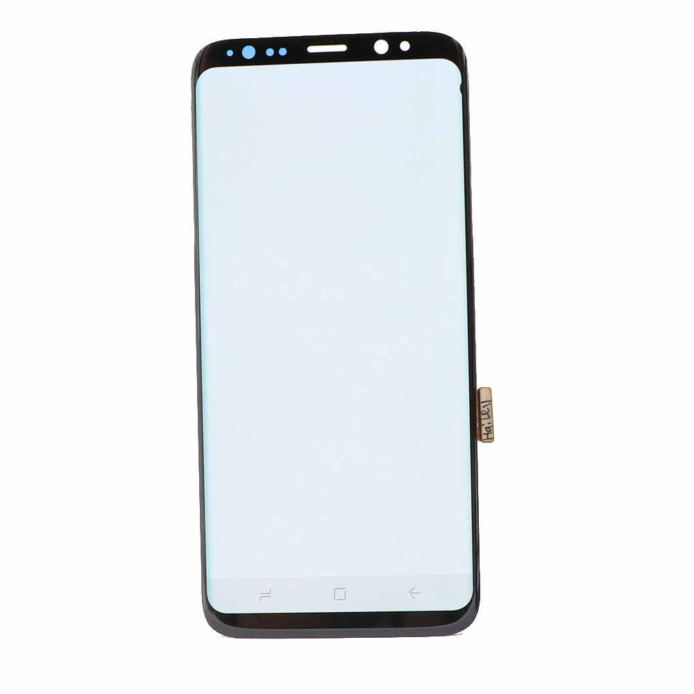 ORIGINAL SUPER AMOLED S8 LCD para SAMSUNG Galaxy S8 G950 G950F S8Plus G955 G955F con pequeño digitalizador de pantalla táctil LCD de punto negro