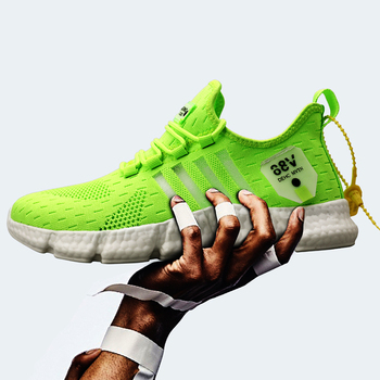 Mężczyźni trampki buty lato czas wolny sport outdoor oddychająca siatka letnie modne oświetlenie duże rozmiary bieganie elastyczne buty wulkanizowane tanie i dobre opinie ZFSRCN NONE Siateczka (przepuszczająca powietrze) podstawowe CN (pochodzenie) Stałe Adult latex Buty casualowe Sznurowane