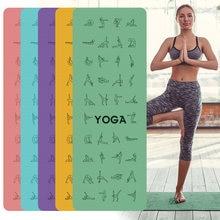 1830*610*6mm EVA Yoga Pose Mat With Position Line Non Slip Carpet Mat For Beginner Environmental Fitness Gymnastics Mats