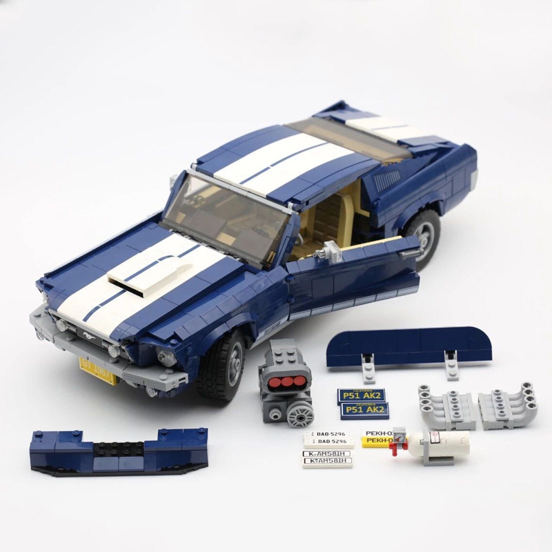 Forded Mustanged 21047 Creator Expert Lepinblocks 91024 Technic Fit Lepining 10265 Bricks Set Building Blocks Toys For Gifts
