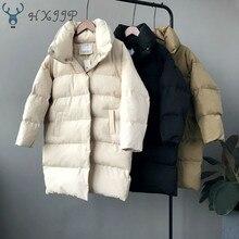 HXJJP עבה מעיל נשים חורף 2020 הלבשה עליונה מעילי נקבה ארוך מקרית חם Oversize המשאף מעיל Parka ממותג