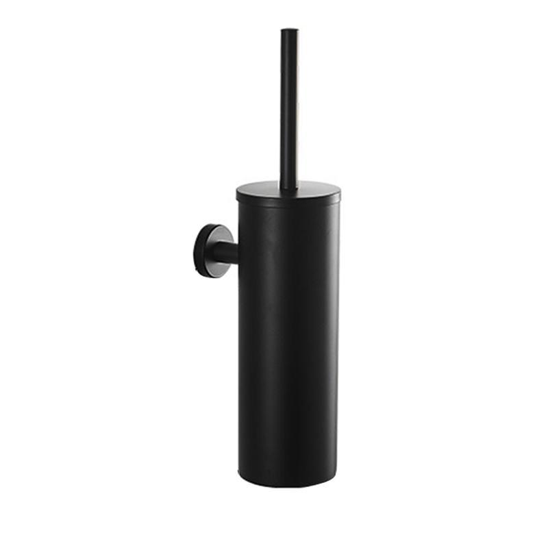 Stainless Steel Toilet Brush Set Wall Mount Toilet Bowl Cleaning Brush And Holder Kit For Bathroom Toilet Cleaner Brush (Black)