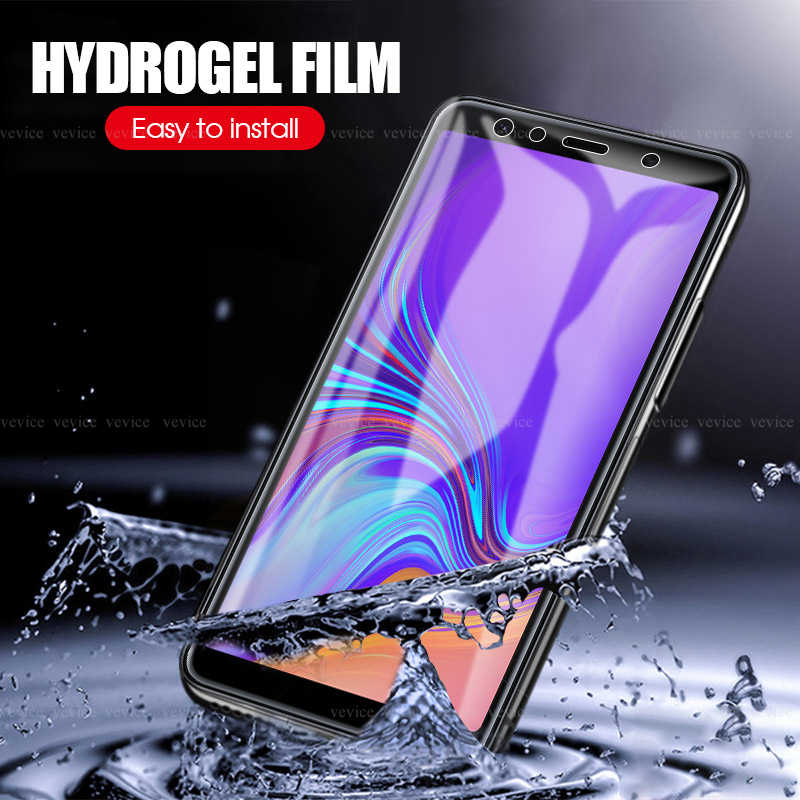 9D Zachte Hydrogel Film Voor Samsung A6 A8 Plus 2018 A8 A9 Star Clear Film Voor Samsung Galaxy A9 A8 a7 A6 J6 2018 A10 A30 A70 Film