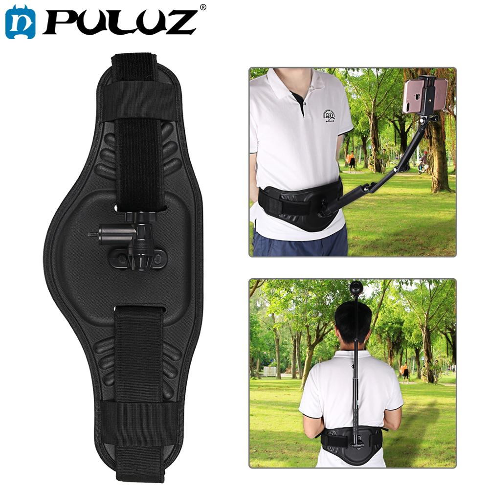 Sangle de fixation pour ceinture PULUZ avec adaptateur h et vis pour GoPro Fushion/DJI OSMO Pocket/Insta360 ONE X/Theta S/V/Xiaoyi et caméras d'action