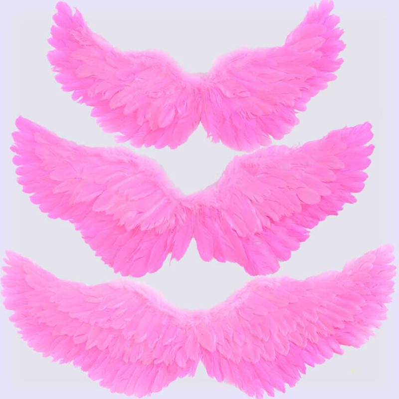 Angel Feather Wing Kids Adults Fairy Princess Cosplay Performance Costume Props Masquerade Party Dress  Halloween Christmas
