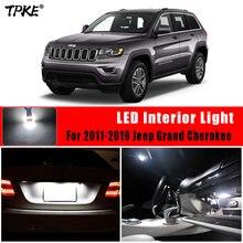 Tpke 13x canbus livre de erros led pacote de kit de luz interior para 2011-2019 jeep grand cherokee mapa dome tronco luz da placa de licença