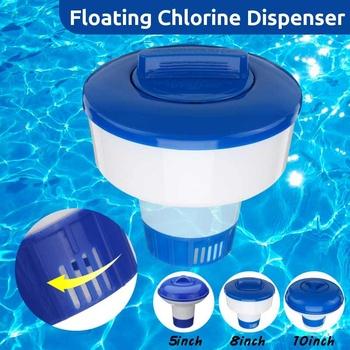 Nowy 5 cal 8 cal 10 cal basen Spa Tablet Auto-dostawca pływające dozownik chloru do czyszczenia pływające dozownik tanie i dobre opinie 5 8 10 inch 104g 217g 279g
