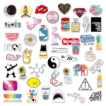 50Pcs VSCO Stickers Girl Cool Graffiti Waterproof Pack For Suitcase Skateboard Laptop Motorcycle Car Cartoon Toys