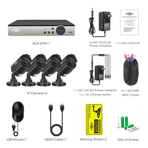 Image 5 - 8CH CCTV システム 4 個 5MP 屋外防水セキュリティカメラ DVR キットビデオ監視システム Hiseeu