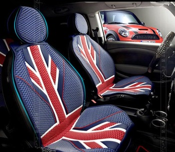 RED Union jack summer car Seat Covers for Mini Cooper R56 Countryman Clubman F55 F56 etc. Interior Accessories