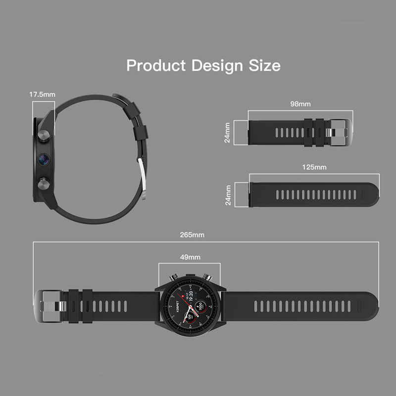 Reloj inteligente kospet Hope teléfono Android 3GB 3GB 8MP Cámara Google play store GPS mapa reloj inteligente impermeable para hombres para Android ios