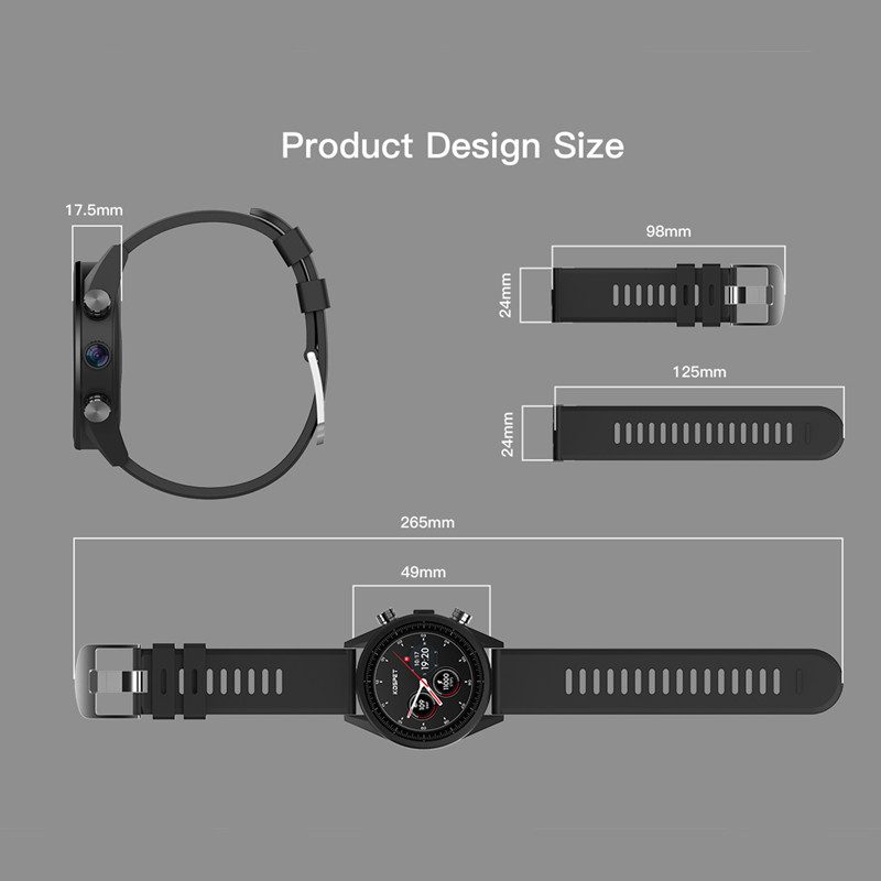 Waterproof kospet Hope 3GB Smart Watch with 8MP Camera including Google play store and GPS Map waterproof for men available for Android ios 5