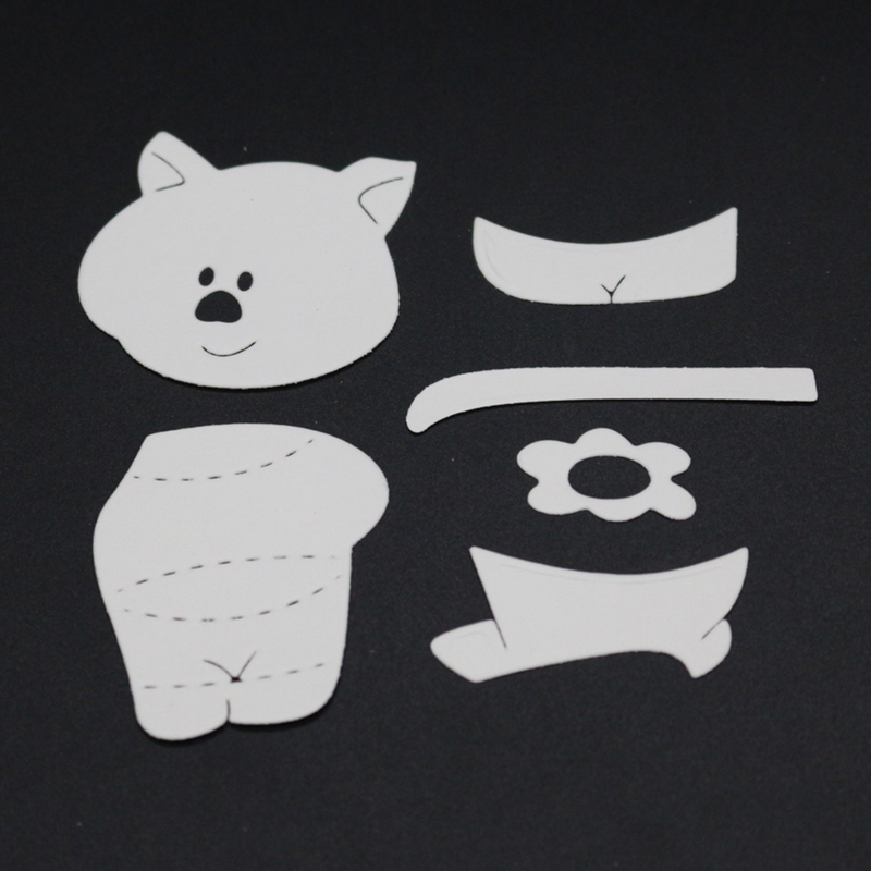 YINISE Metal Cutting Dies For Scrapbooking Stencils PUNCH PIG SCRAPBOOK DIE CUT DIY Album Cards Decoration Embossing Die Cuts in Cutting Dies from Home Garden