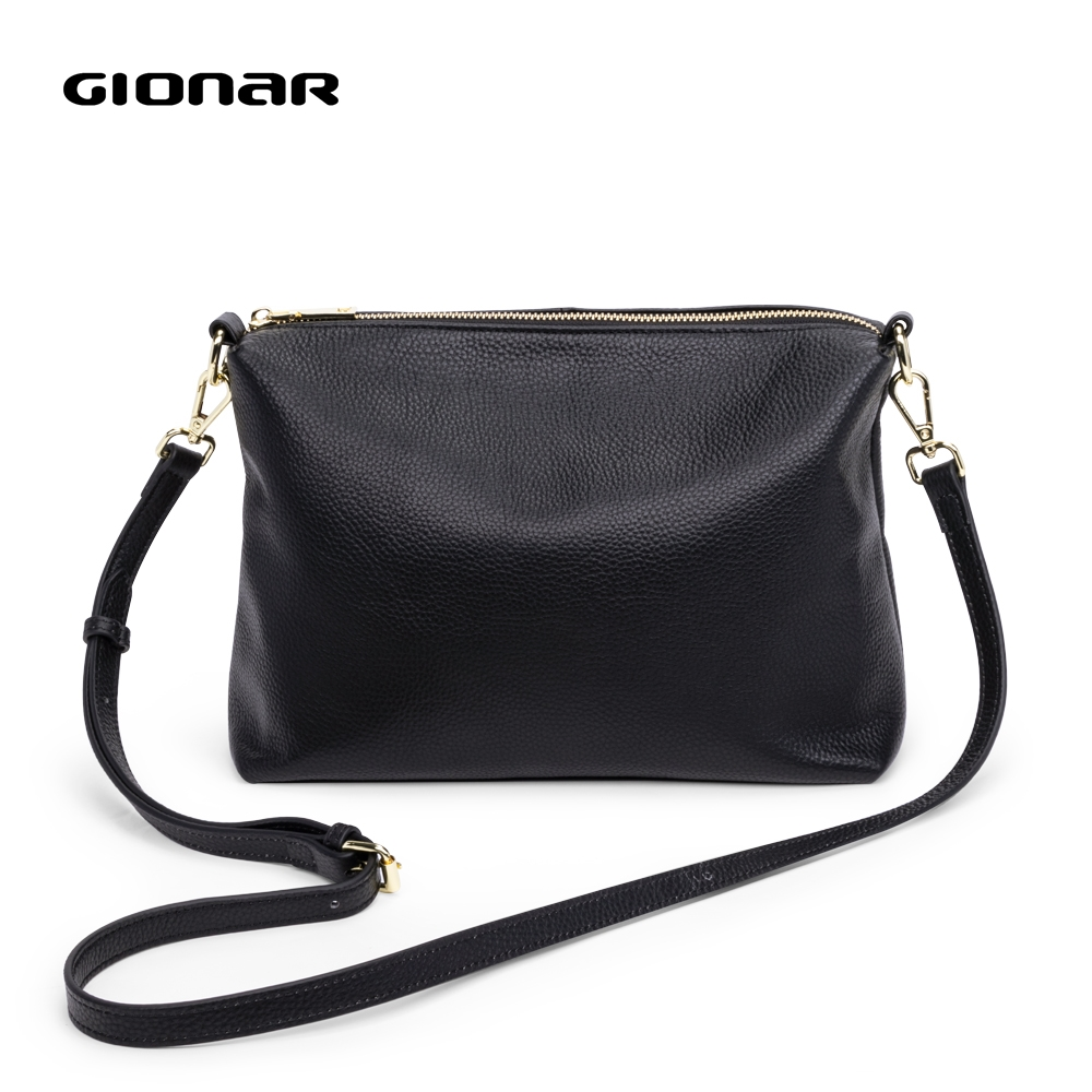 Gionar Women Shoulder Bag Genuine Leather Purses And Handbags Daily Black Crossbody Bags For Designer Luxury Messenger