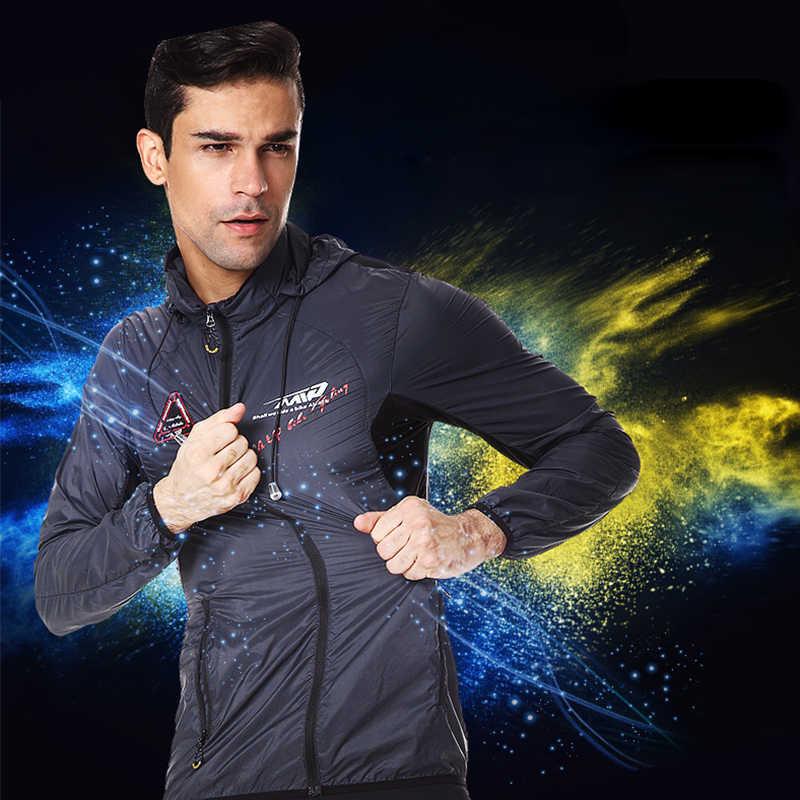 Ультра-светильник с капюшоном куртка велосипед ветрозащитное пальто дорога MTB Aero Велоспорт Ветровка Для мужчин Костюмы быстросохнущая тонкие куртки